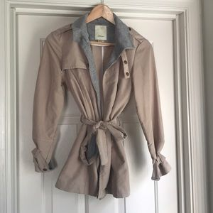 Anthropologie Cropped Trench Coat